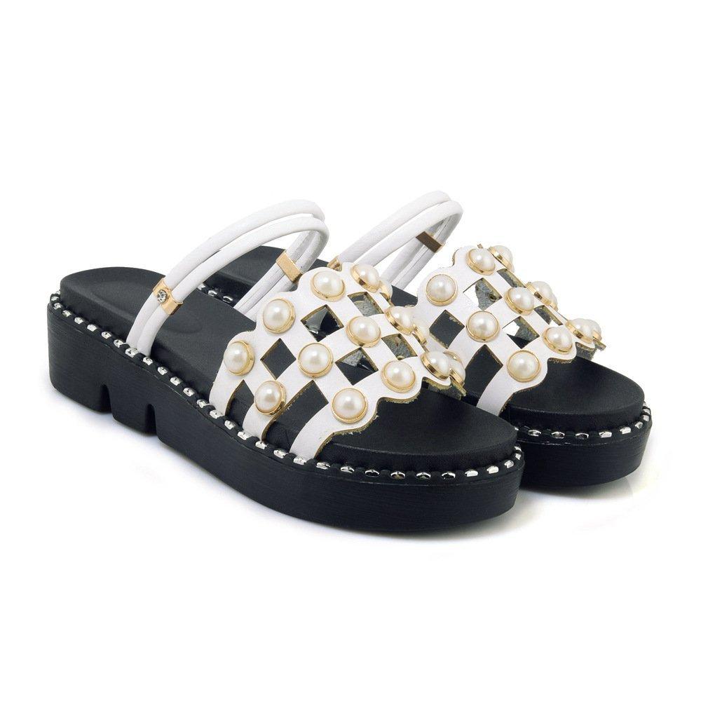 Sandales épais, décontractées pour Talon Femmes Talon épais, Blanc Tongs Blanc e264e37 - robotanarchy.space
