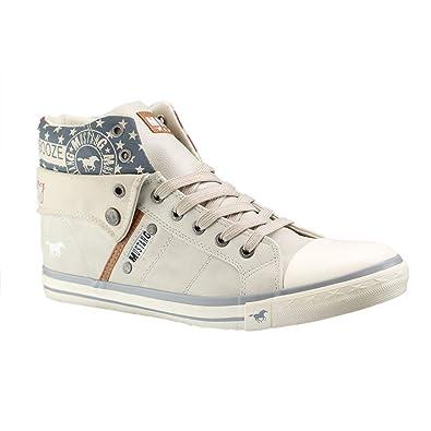 1146-507, Damen Hohe Sneakers, Beige (4 Beige), 40 EU Mustang