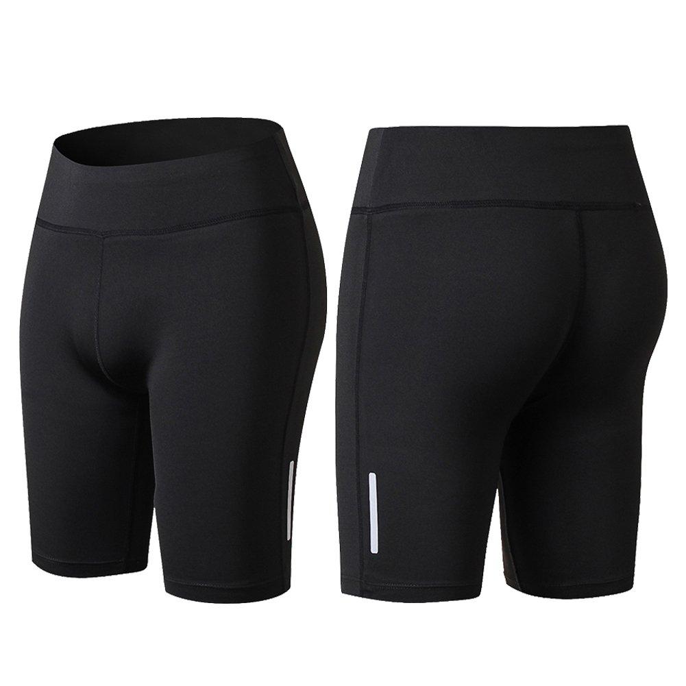 FITIBEST Mujer Pantalones Cortos de Correr Deportivas Cortas con compresi/ón y funci/ón de Secado r/ápido