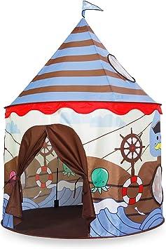 Homfu Tienda del Juego Tienda de Campaña para Niños Castillo Juego en casa para Chicos Plegable autoarmable (Brown): Amazon.es: Juguetes y juegos