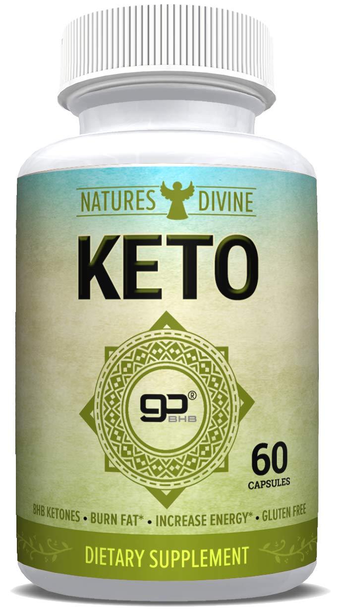 Keto Diet Pills - Best Exogenous Ketones - Appetite Suppressant for Women and Men - Burn Fat Fast - 60 Caps