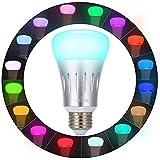 Ampoule Intelligente LED,Tomshine WiFi E27 Lampe Ambiance Dimmable Ampoule Colorée 16 Millions Couleurs Compatible Smartphone Télécommande avec Amazon Elexa Echo Google Home