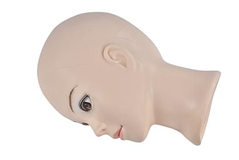 Calva hembra Make Up maniquí cabeza cometology maniquí de cabeza para peluca Making y sobremesa: Amazon.es: Belleza