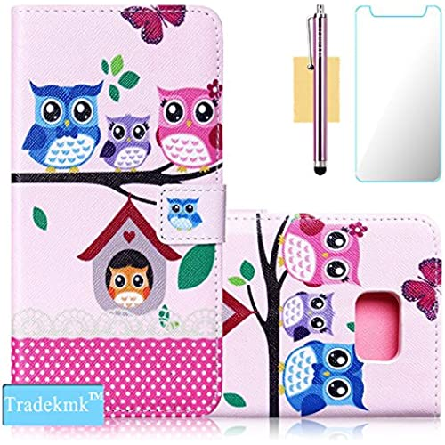 Galaxy S7 Edge Case,S7 Edge Case, Tradekmk(TM);Owls'Family Design Quality PU Leather Flip Case with Card Slots For Samsung Galaxy S7 Edge Sales