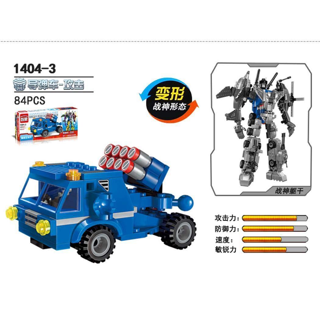 INKEME Robot Toy 506 Pezzi Transformer Robot Car Building Blocks Toy Set Regalo per Bambini Ragazzi