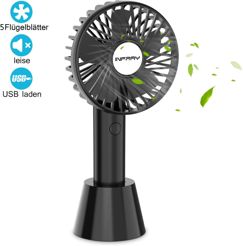 DeepDream Handventilator Tragbarer Mini L/üfter Elektrischer USB Ventilator mit Spr/ühfunktion,Farbe LED-Licht,Abnehmbare Basis Kompatibel mit Laptop Multi Port Steckdose f/ür Reisen und Zuhause