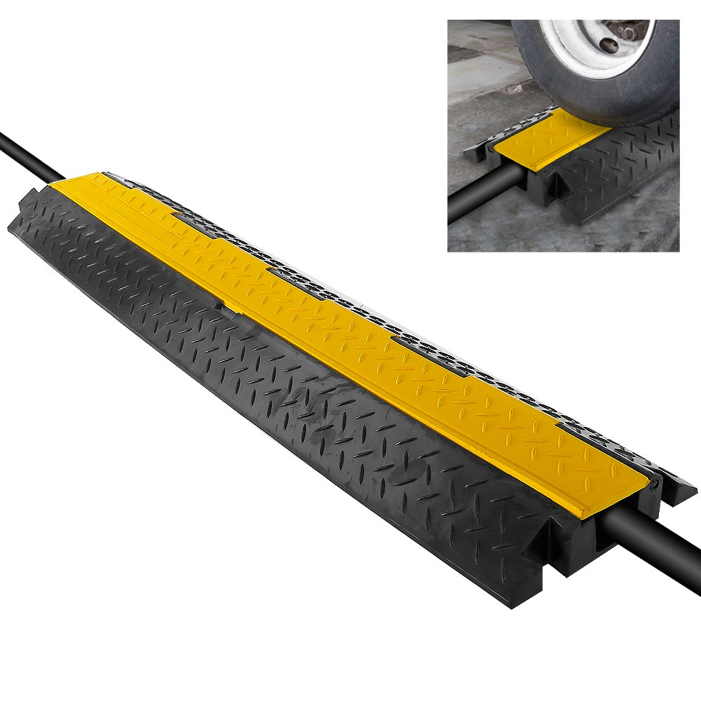 """Durable Cable Protective Ramp Cover - Supports 11000lbs Single Channel Heavy Duty Cord Protection w/Flip-Open Top Cover, 39.4"""" x 5.11"""" x 0.78"""" Cable Concealer for Indoor Outdoor Use - Pyle PCBLCO102"""