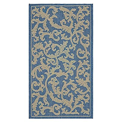 Safavieh Courtyard Collection CY2326-3501 Natural and Green Indoor/ Outdoor Area Rug