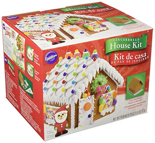 - Wilton 2104-1915 Fully Assembled Gingerbread House Kit, Petite