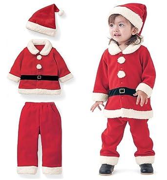 Christmas Costume Toddler Boys Girls Fleece Santa Claus Tops  Coats+Pants+Cap Set size - Amazon.com: Christmas Costume Toddler Boys Girls Fleece Santa Claus