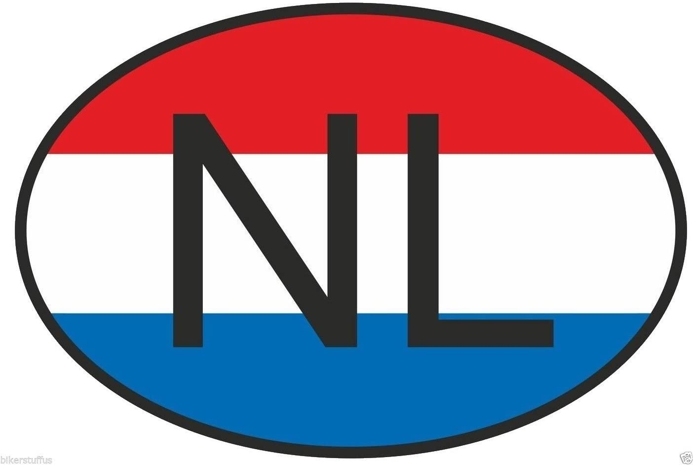 HOLLAND STICKER OVAL COUNTRY CODE LOGO BADGE MOTORCYCLE CAR LAPTOP 3 D NL
