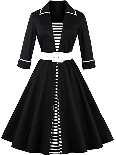 Amazon.com: Babyonline Retro Vintage Mujer 1950 Rockabilly ...