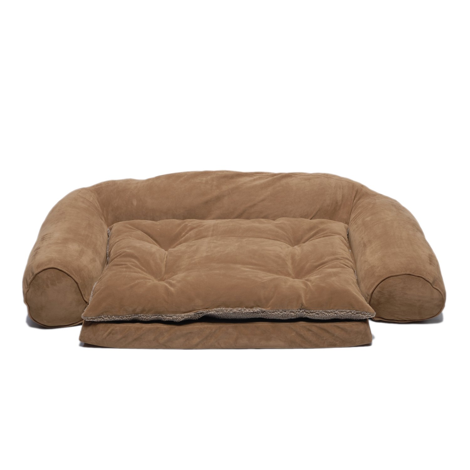 CPC Ortho Sleeper Ex Large Comfort Couch with Removable Cushion, Chocolate