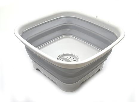 Tappo Della Vasca Da Bagno In Inglese : Sammart 9.1l 2.4gallon bacinella pieghevole con tappo di scarico