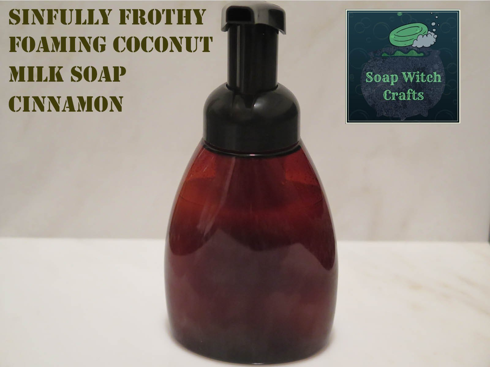 Sinfully Frothy Foaming Coconut Milk Soap - Cinnamon Scented