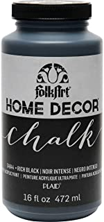 product image for FolkArt Home Decor Chalk Furniture & Craft Paint in Assorted Colors, 16 ounce, Rich Black