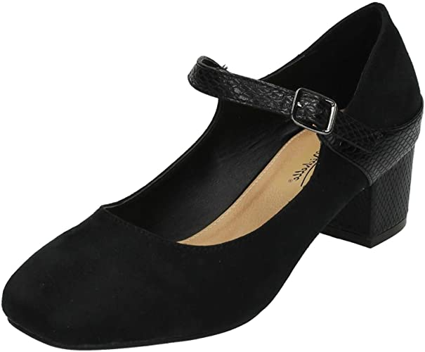 Ladies Anne Michelle Block Heel Court Shoes
