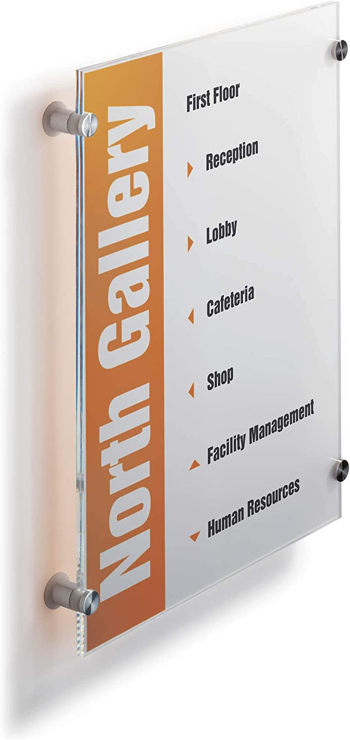 8.25 X 5.875-Inch Durable Crystal Sign Dbl482319 Clear
