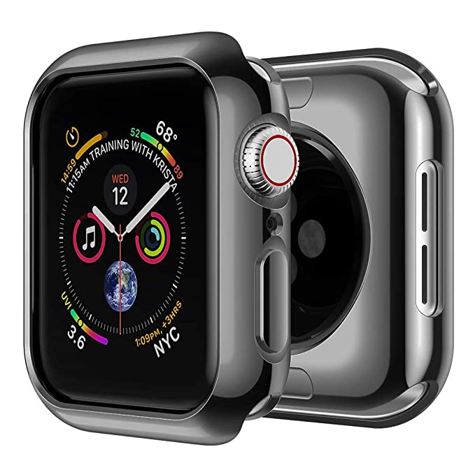 SIRUIBO Compatible with Apple Watch 40mm Case, Soft TPU Slim Full-Around Protective Bumper iWatch Series 4 Protector Cover for Apple Watch Series 4, ...