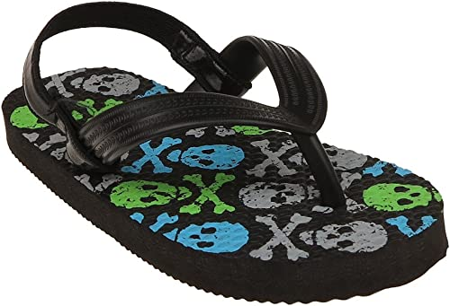 OshKosh B/'Gosh Orville Boy/'s Flip Flop Sandal Toddler Size 7 Black