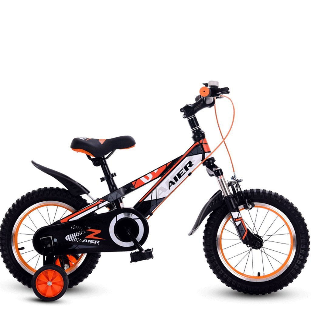 DGF 子供と自転車用の子供用自転車2-10小型自転車12/14/16/18インチマウンテンバイク (色 : オレンジ, サイズ さいず : 16 inches) B07F1NDWDR 16 inches|オレンジ オレンジ 16 inches