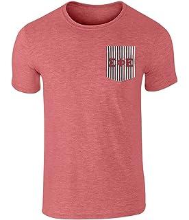 sigma phi epsilon americana pocket t shirt with twill letters by fashion greek