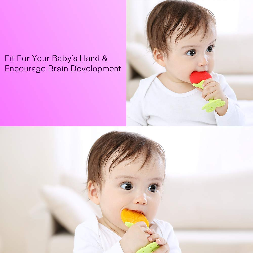 2 Pack 3 Pack Silicone Baby Teethers with Baby Teething Toys MICHEF Teething Mittens for Baby BPA-Free Natural Organic Freezer Safe for Infants and Toddlers Self Soothing Pain Relief Mitt
