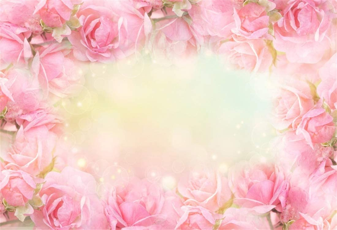 YEELE Happy Valentines Day Backdrop 5x3ft Love Theme Roses Flower Blossom Romantic Photography Background Lovers Lady Girls Adults Photos Wedding Portrait Photobooth Props Digital Wallpaper