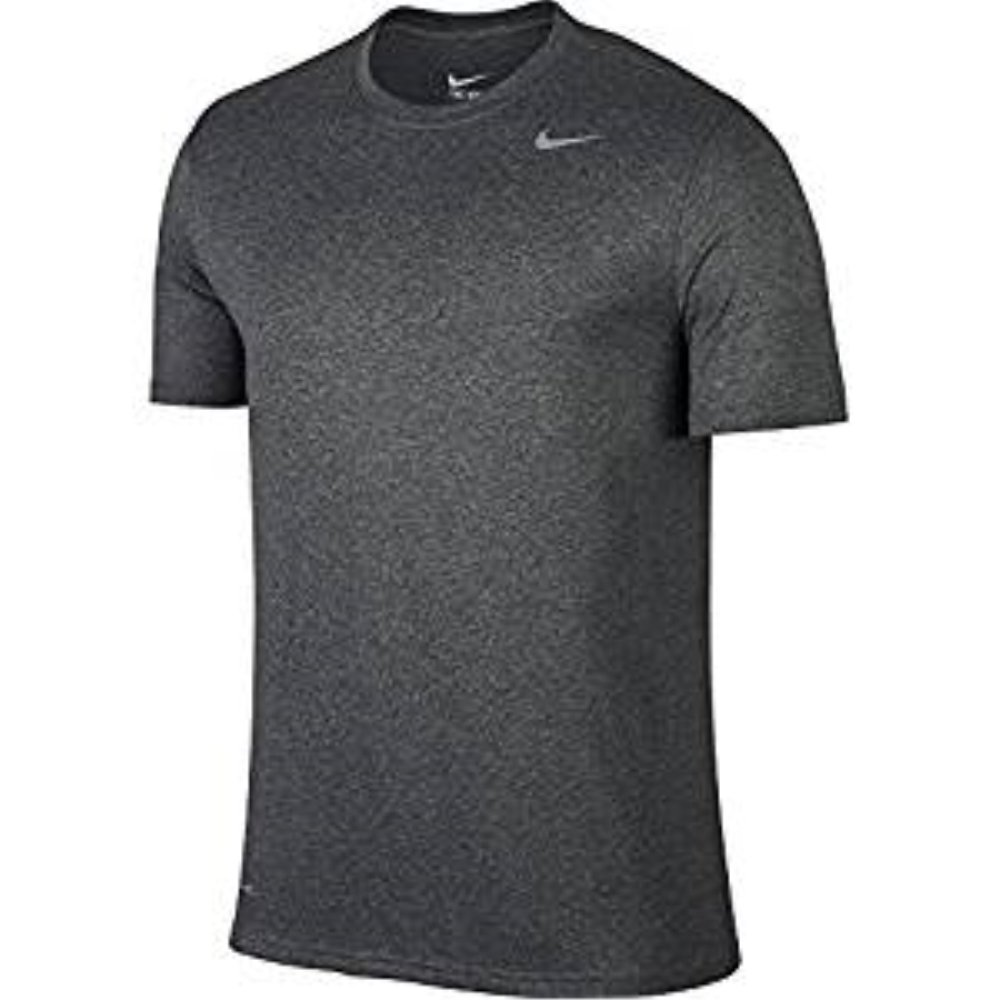 Nike Men's Pro Fitted Short Sleeve Shirt (Matte Silver, Large)