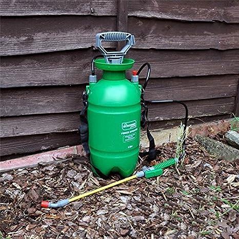 Pulverizador a presión 5L litro MANUAL vallas caseta de jardín patio madera madera - apto para todos los tratamientos de spray capaz de atención de la ...