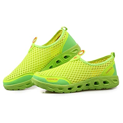 5b66bbc923467 AIRAVATA Water Shoes Men and Women Summer Slip 0n Quick Dry Lightweight  Breathable Mesh Athletic Sneakers