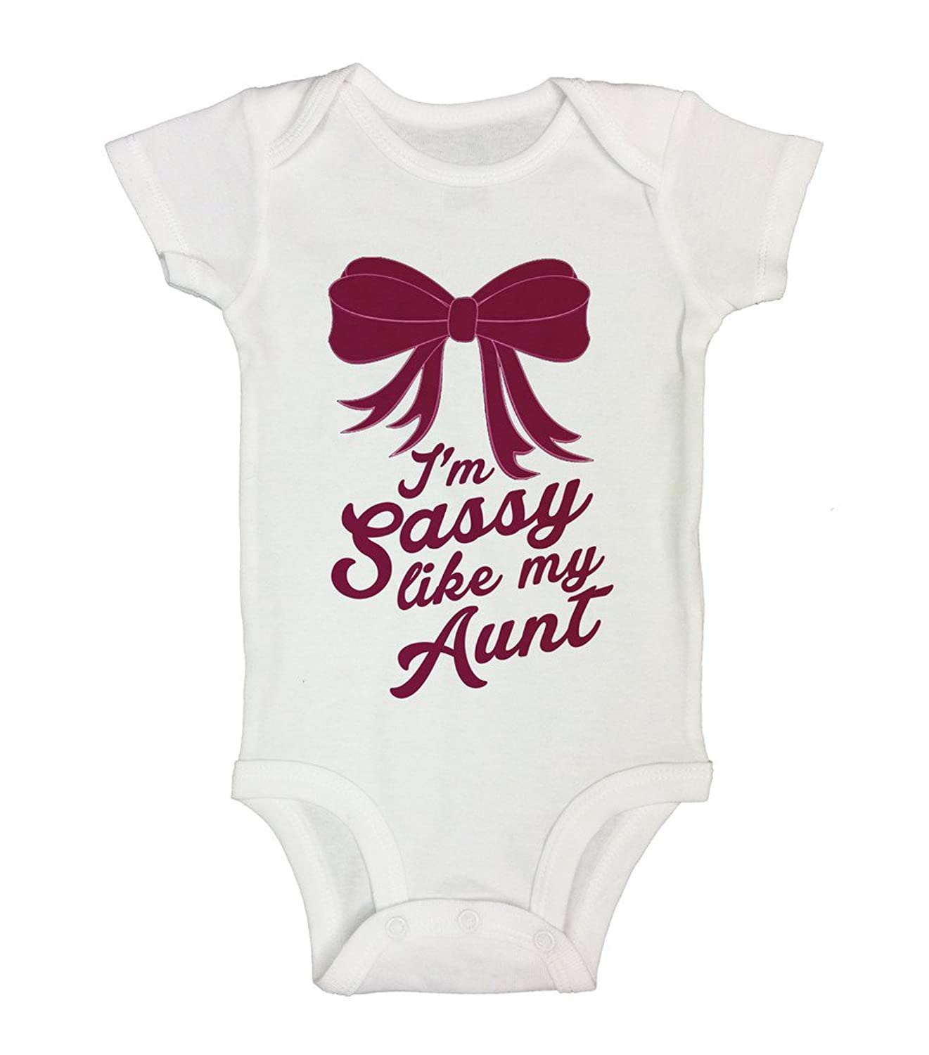 "Amazon Cute Kids esie ""Sassy Like My Aunt"" Funny Kids"
