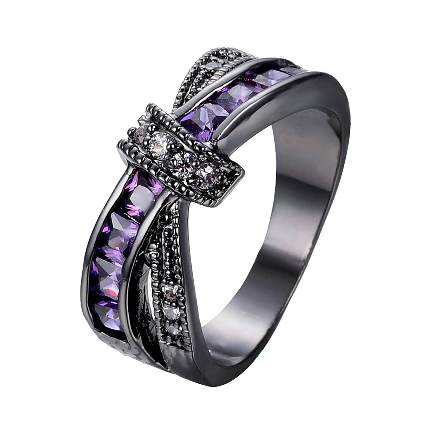 bamos jewelry womens purple zc stone promise t rings lab for