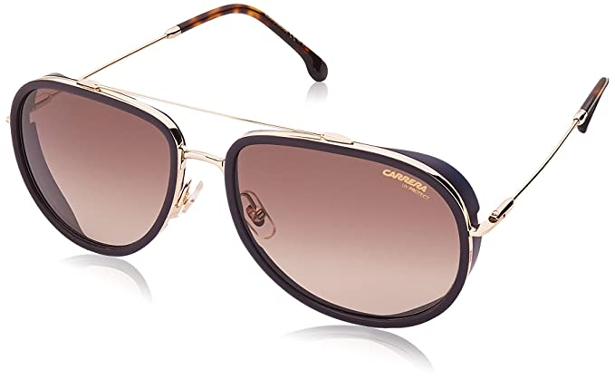 Carrera 166/S Gafas de sol Multicolor (Blue Gold) 59 para ...