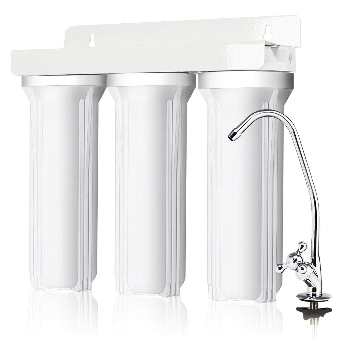 zwan 3-Stage Under-Sink Water Filter System Water Filtration with Chromed Faucet New with Ebook