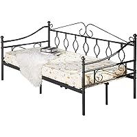 Aingoo Banquette Lit Canapé lit Simple en Métal Lit de Jour, Lit de Loisirs pour Enfants ou Adulte