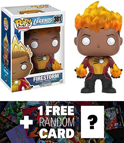 Firestorm: Funko POP! x Legends of Tomorrow Vinyl Figure + 1 FREE Official DC Trading Card Bundle (096861)