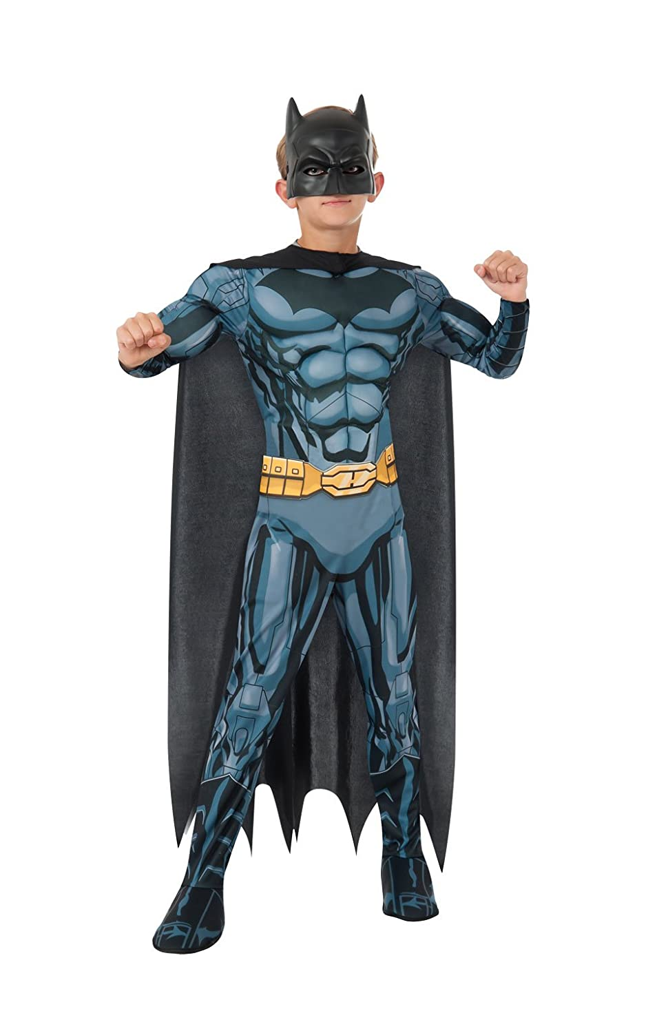 Rubies DC Comics Deluxe Muscle-Chest Batman Costume, Child Small