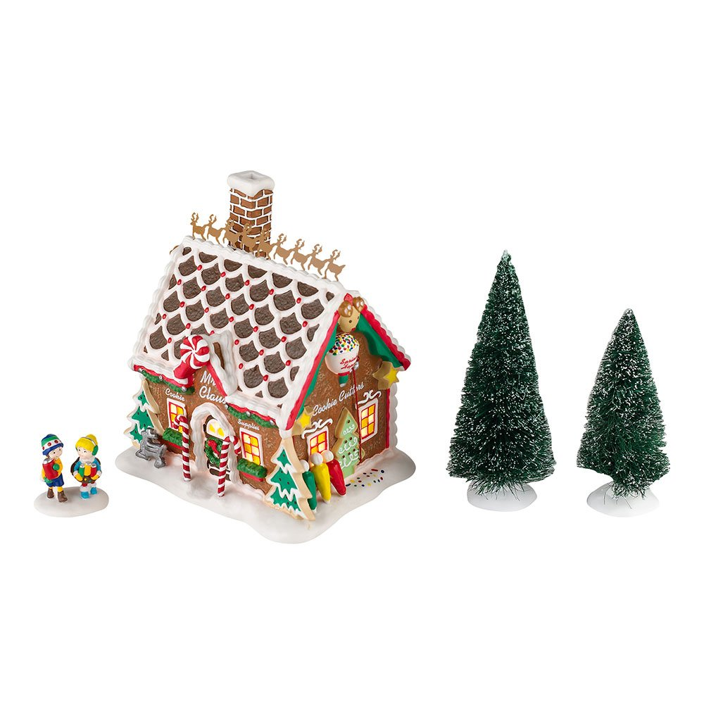 Department 56 North Pole Series Mrs. Claus Cookie Supplies Lit House 2012 Annual Gift Set, 6.1 inch