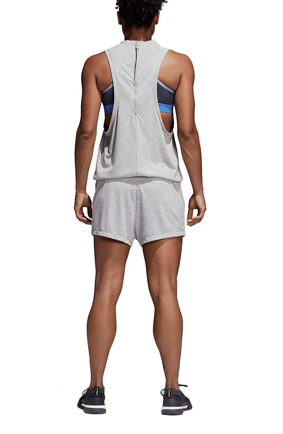 f28f2ce1b84 Amazon.com  Adidas Womens Wanderlust Pleated Ruched Romper  Clothing