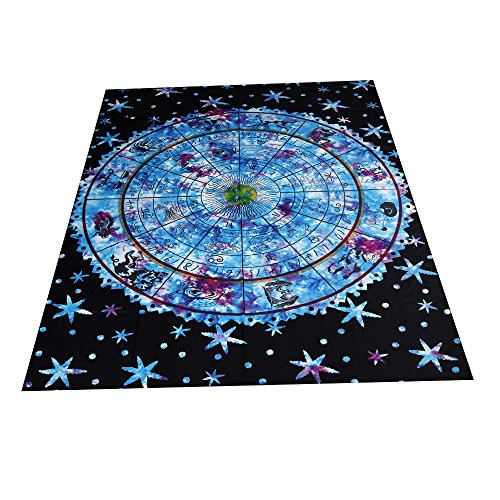 Iusun Multicolor Printing Beach Mat Yoga Mat Mandala Blanket Wall Hanging Tapestry Stripe Towel Table Couch Cloth- Shipping From USA (Multicolor)