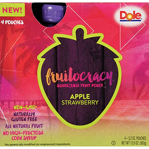 Fruit Apple Strawberry (Fruitocracy Fruit Pouch, Apple Strawberry, 3.2 oz, 4 Count (Pack of 8))