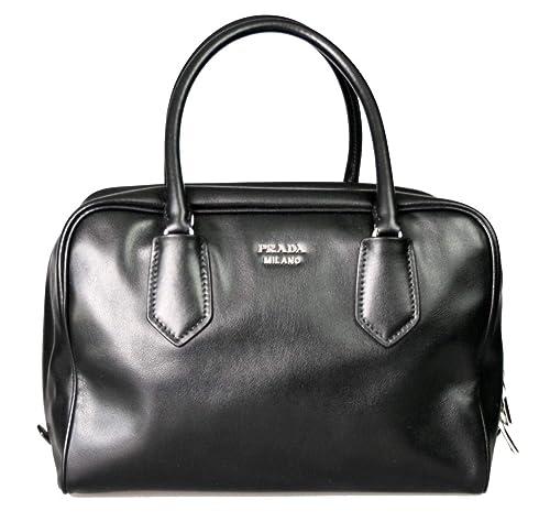 84e9763af254 ... tessuto nylon soft calf leather trim top handle convertible bag black  004c3 9898d order prada womens soft calf inside tote black blue leather  aeae1 ...