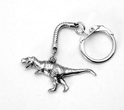 Llavero de dinosaurio (T. rex) con Bolsa de regalo: Amazon ...