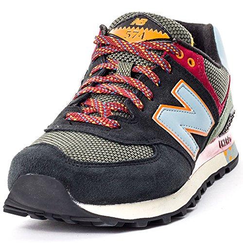 New Balance NBML574MON Sneaker, Uomo Nero
