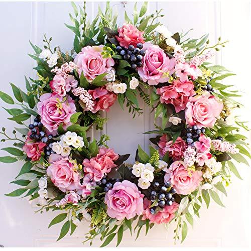 - PRMStore Artificial Peony Flower Wreath 22