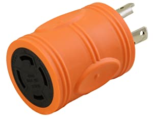 AC WORKS Generator to Transfer Switch L14-30 Inlet Box Adapter (L5-30 30Amp 3-Prong to L14-30 Compact)