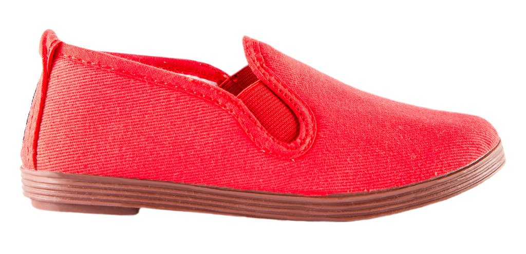 Namoo Kids Slip On Canvas Shoes Boys Girls, Cotton Rubber Sole, Baby/Toddler/Kid (Red)