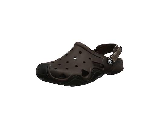 06543f1e306 Crocs Swiftwater Clog Men, Hombre Zueco, Marrón (Espresso/Black), 39