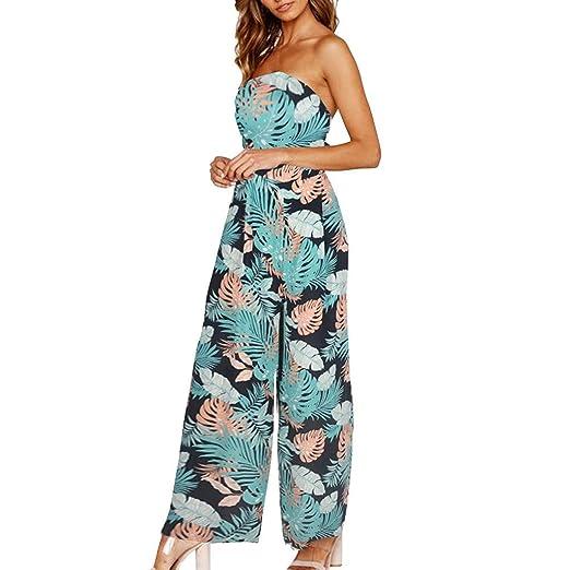 dd6e1c5af8e6 nanzhushangmao pants Wide Leg Jumpsuit for Women Casual Bohemia Harem  Oversize Side Slit Trousers Loose Jumpsuit